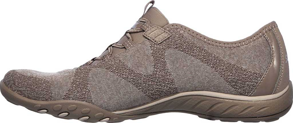Women's Skechers Relaxed Fit Breathe-Easy Opportuknity Sneaker, Taupe, large, image 3