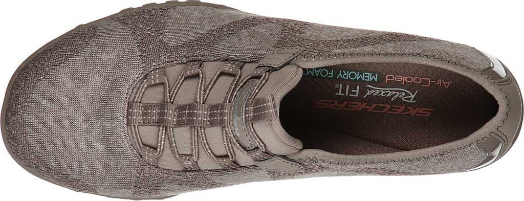 Women's Skechers Relaxed Fit Breathe-Easy Opportuknity Sneaker, Taupe, large, image 4