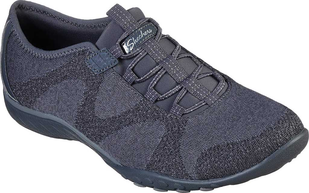 Women's Skechers Relaxed Fit Breathe-Easy Opportuknity Sneaker, Charcoal, large, image 1