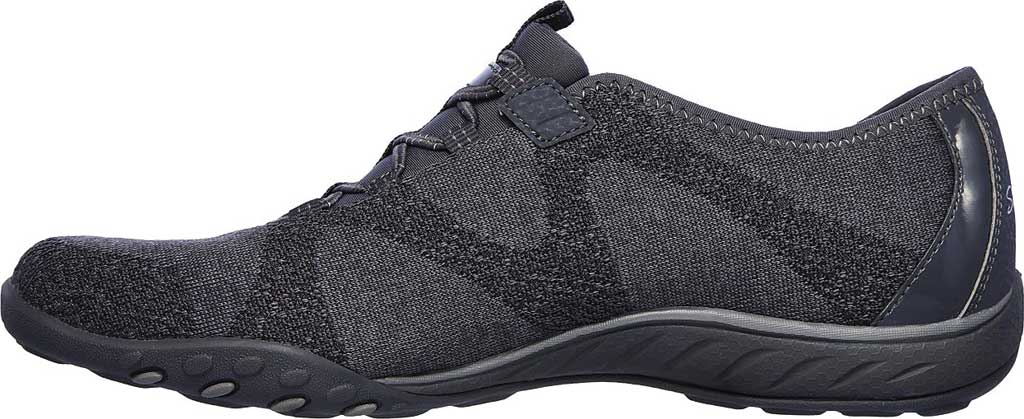 Women's Skechers Relaxed Fit Breathe-Easy Opportuknity Sneaker, Charcoal, large, image 3
