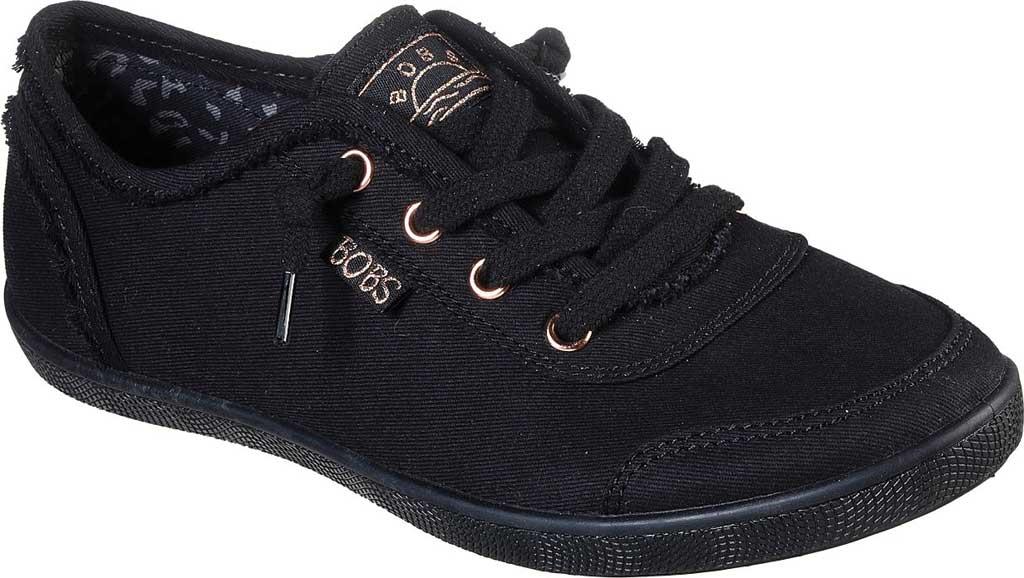 Women's Skechers BOBS B Cute Sneaker, Black/Black, large, image 1