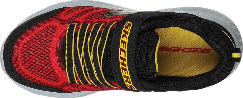 Boys' Skechers Snap Sprints Ultravolt Sneaker, Red/Black, large, image 4