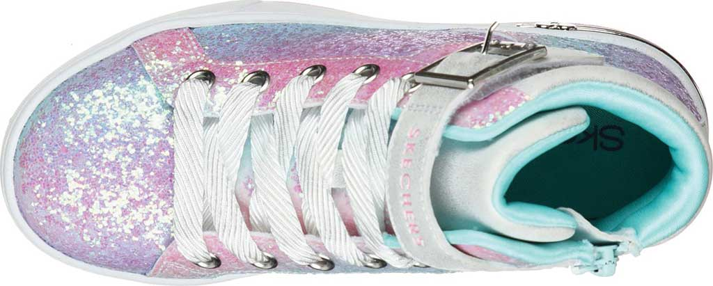 Girls' Skechers Shoutouts Sparkle On Top Sneaker, Silver/Multi, large, image 4