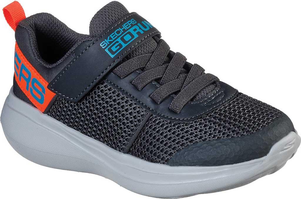 Boys' Skechers GOrun Fast Tharo Sneaker, Charcoal/Blue, large, image 1