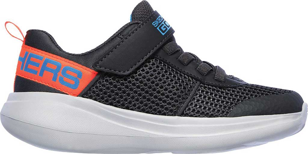 Boys' Skechers GOrun Fast Tharo Sneaker, Charcoal/Blue, large, image 2