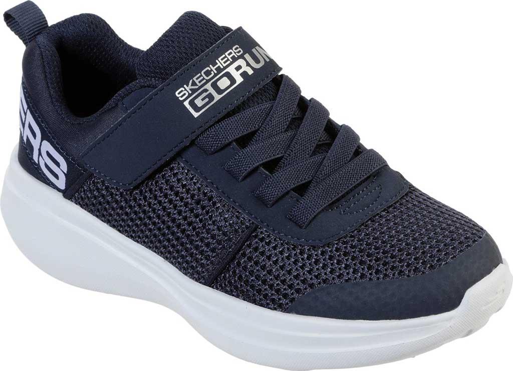 Boys' Skechers GOrun Fast Tharo Sneaker, Navy, large, image 1
