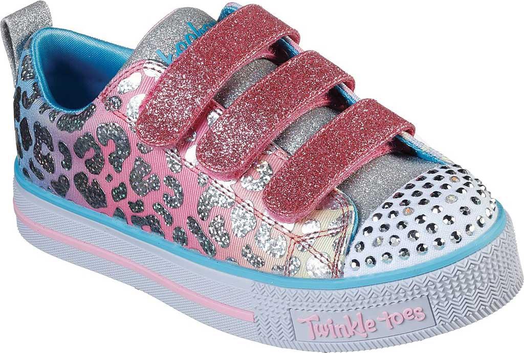 Girls' Skechers Twinkle Toes Twinkle Lite Sparkle Spots Sneaker, Pink/Multi, large, image 1