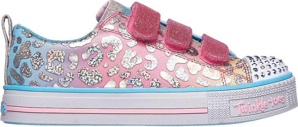 Girls' Skechers Twinkle Toes Twinkle Lite Sparkle Spots Sneaker, Pink/Multi, large, image 2