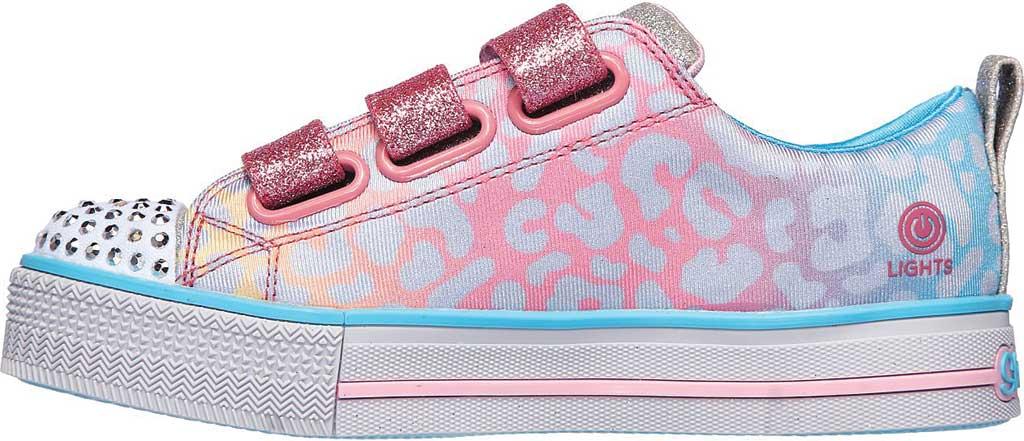 Girls' Skechers Twinkle Toes Twinkle Lite Sparkle Spots Sneaker, Pink/Multi, large, image 3