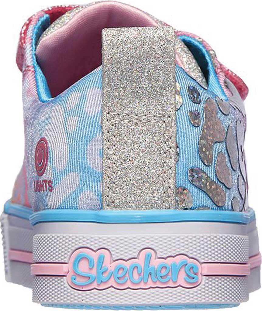 Girls' Skechers Twinkle Toes Twinkle Lite Sparkle Spots Sneaker, Pink/Multi, large, image 4