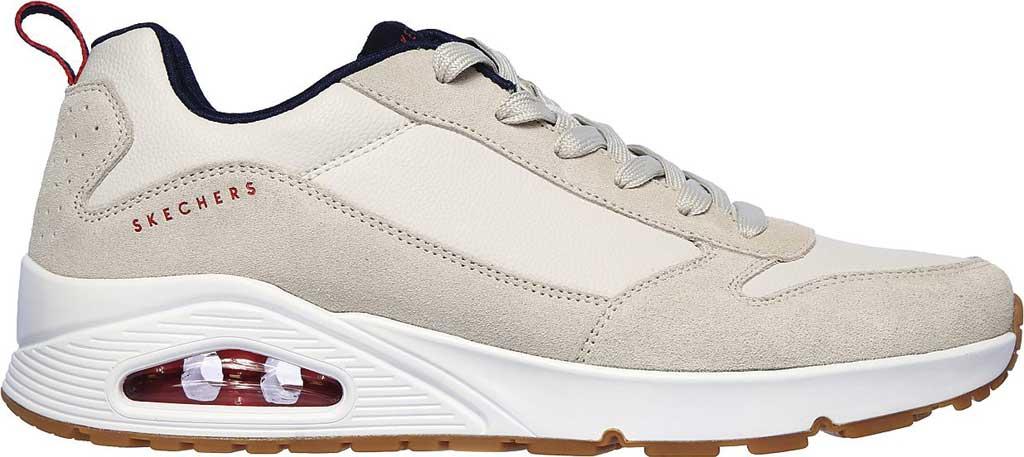 Men's Skechers Uno Stacre Sneaker, Off White, large, image 2