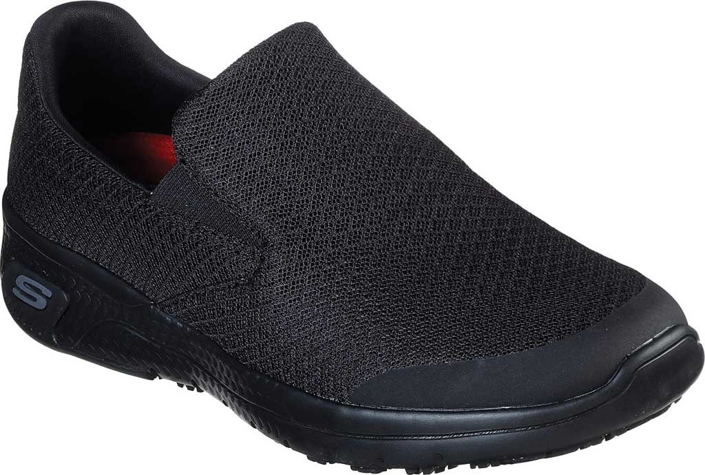 Women's Skechers Work Relaxed Fit Marsing Slip Resistant Sneaker, Black, large, image 1