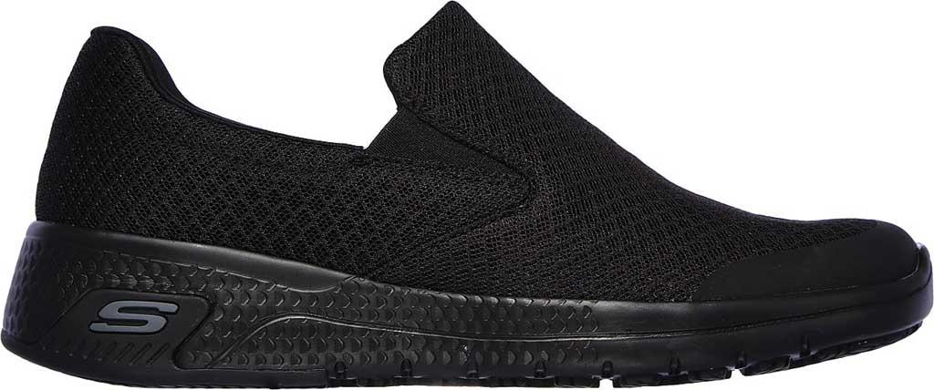 Women's Skechers Work Relaxed Fit Marsing Slip Resistant Sneaker, Black, large, image 2