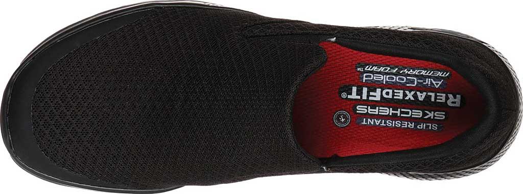 Women's Skechers Work Relaxed Fit Marsing Slip Resistant Sneaker, Black, large, image 4