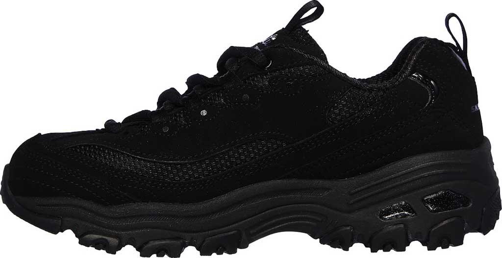 Girls' Skechers D'Lites Color Chrome Sneaker, Black/Black, large, image 2