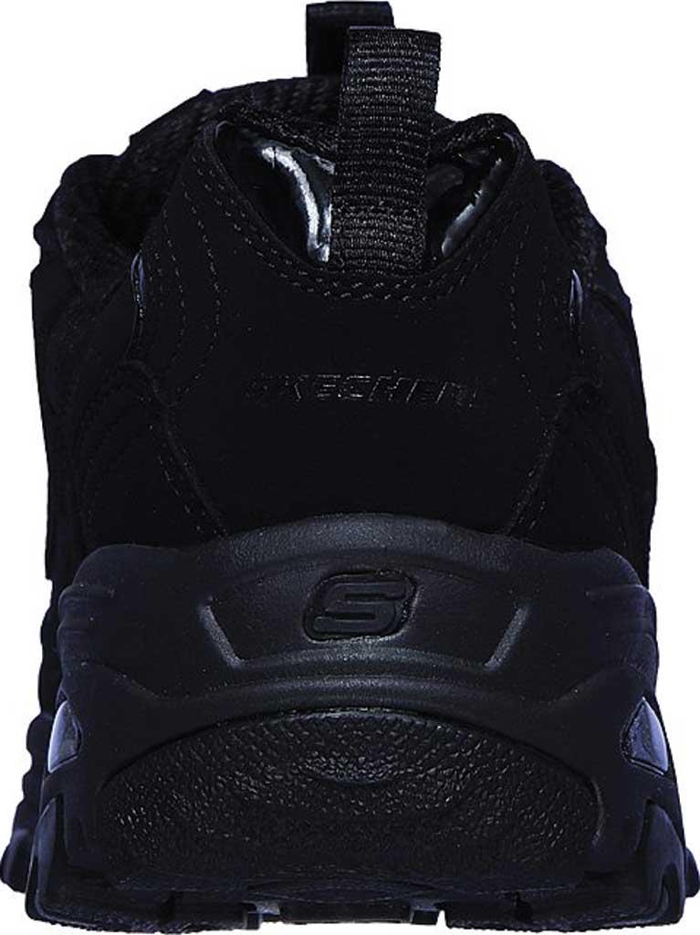 Girls' Skechers D'Lites Color Chrome Sneaker, Black/Black, large, image 3