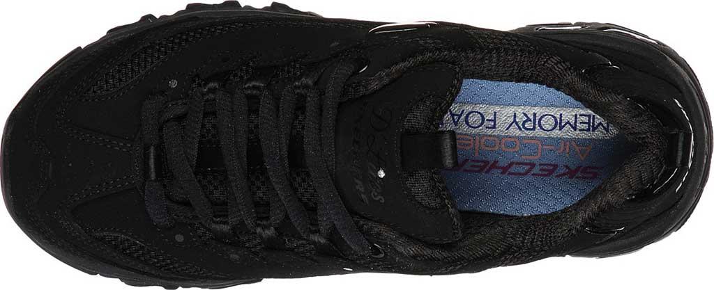Girls' Skechers D'Lites Color Chrome Sneaker, Black/Black, large, image 4
