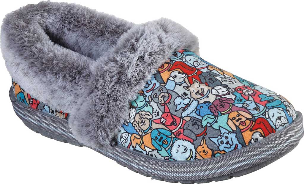 Women's Skechers BOBS Too Cozy Pooch Parade Slipper, Multi, large, image 1