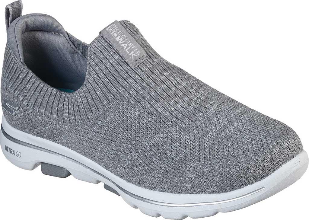 Women's Skechers GOwalk 5 Trendy Slip On Sneaker, Gray, large, image 1
