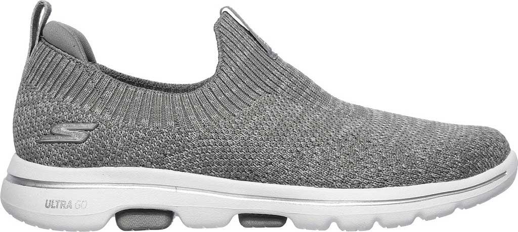 Women's Skechers GOwalk 5 Trendy Slip On Sneaker, Gray, large, image 2