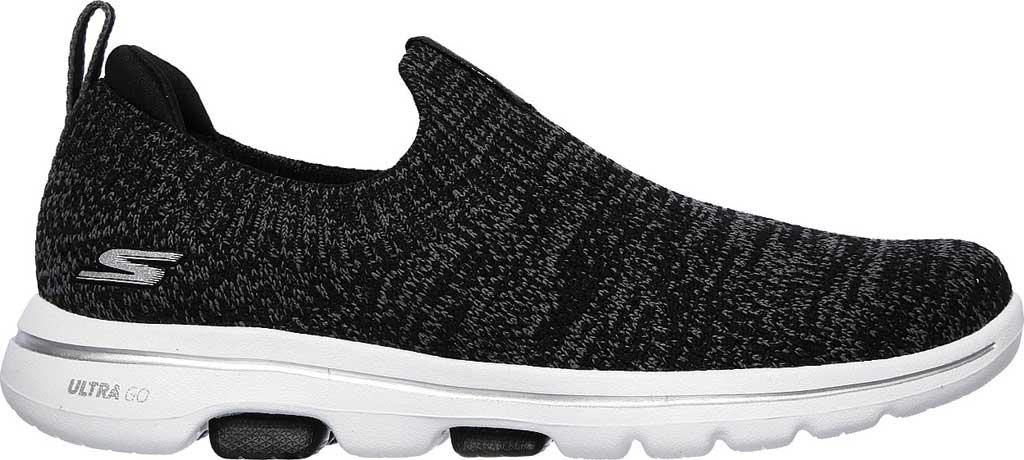 Women's Skechers GOwalk 5 Trendy Slip On Sneaker, Black/Gray, large, image 2