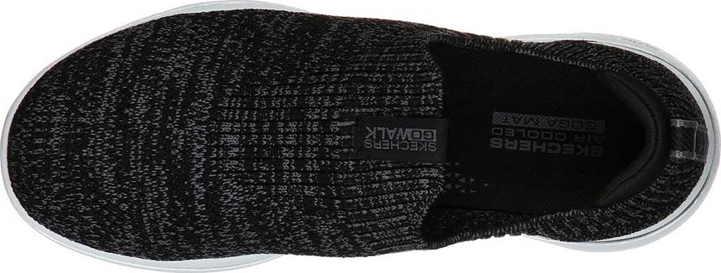 Women's Skechers GOwalk 5 Trendy Slip On Sneaker, Black/Gray, large, image 4