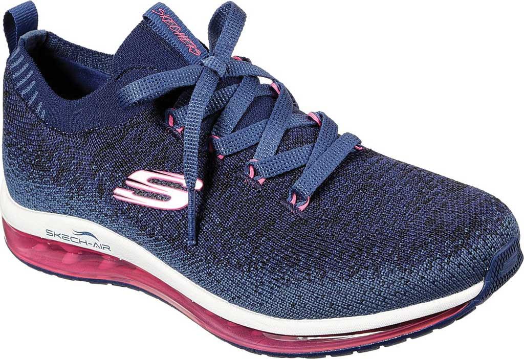 Women's Skechers Skech-Air Element Brisk Motion Sneaker, Navy/Hot Pink, large, image 1