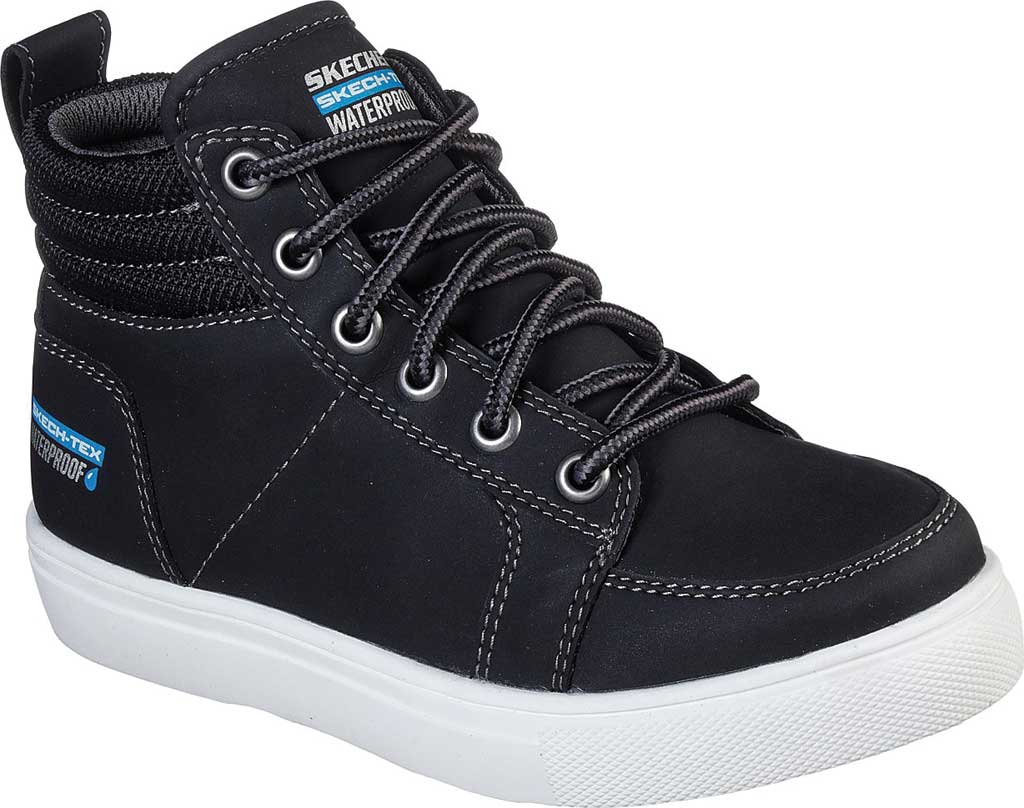 Boys' Skechers City Point Ankle Boot, Black, large, image 1
