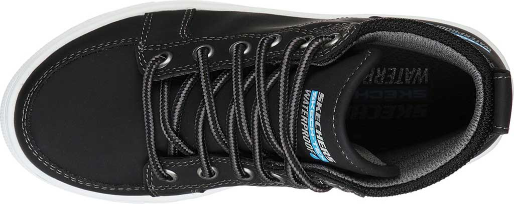 Boys' Skechers City Point Ankle Boot, Black, large, image 4