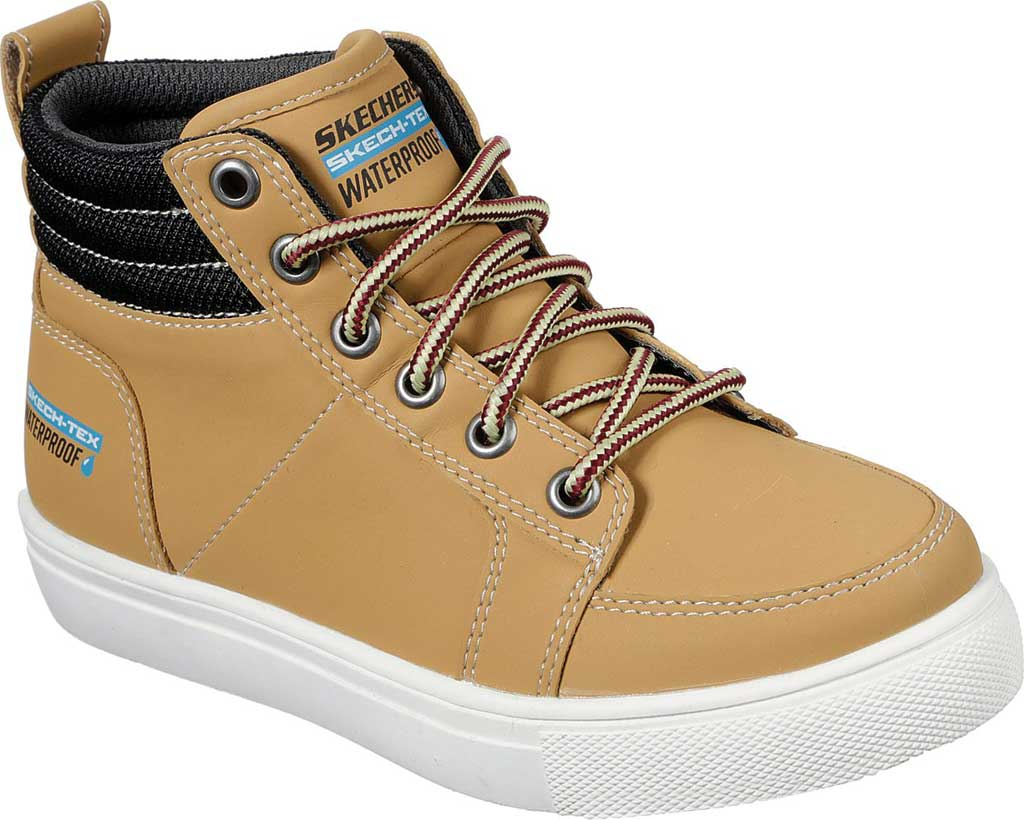 Boys' Skechers City Point Ankle Boot, Wheat, large, image 1