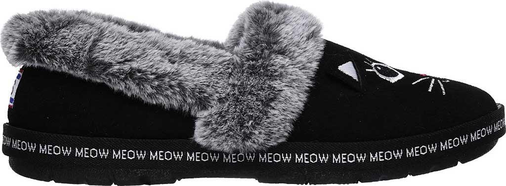 Women's Skechers BOBS Too Cozy Meow Pajamas Slipper, Black, large, image 2