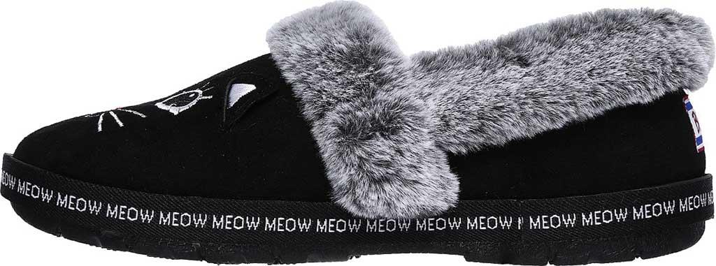 Women's Skechers BOBS Too Cozy Meow Pajamas Slipper, Black, large, image 3