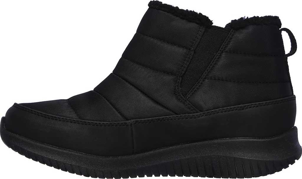 Women's Skechers Ultra Flex Shawty Ankle Boot, Black/Black, large, image 3