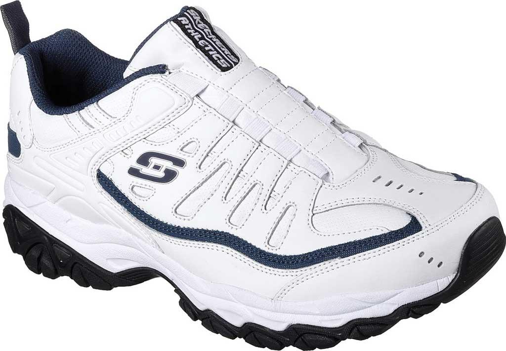 Men's Skechers After Burn M. Fit Falken Sneaker, White/Navy, large, image 1
