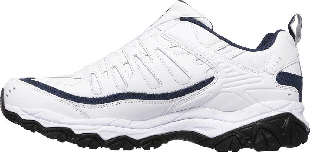 Men's Skechers After Burn M. Fit Falken Sneaker, White/Navy, large, image 3