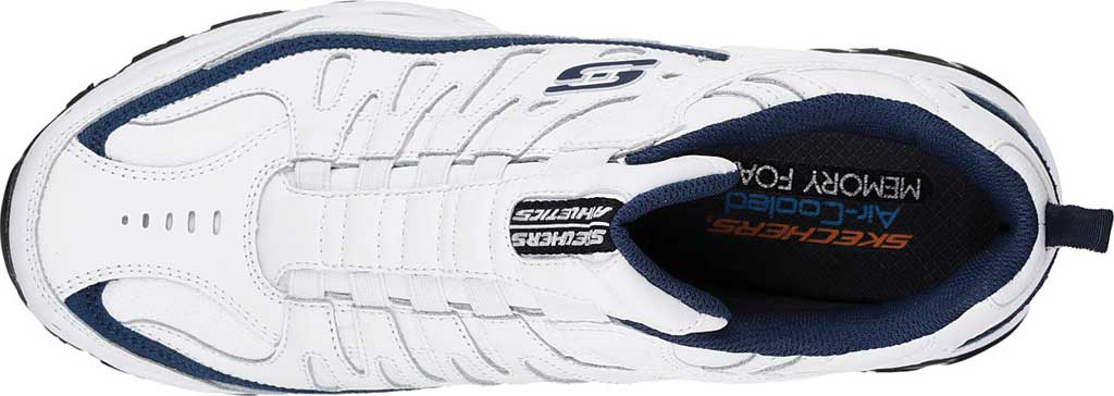 Men's Skechers After Burn M. Fit Falken Sneaker, White/Navy, large, image 4