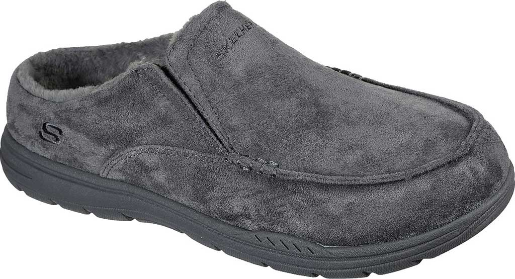 Men's Skechers Relaxed Fit Expected X Verson Slipper, Charcoal, large, image 1