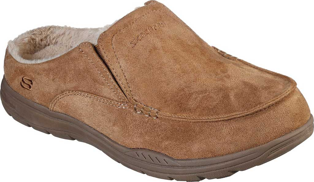 Men's Skechers Relaxed Fit Expected X Verson Slipper, Tan, large, image 1