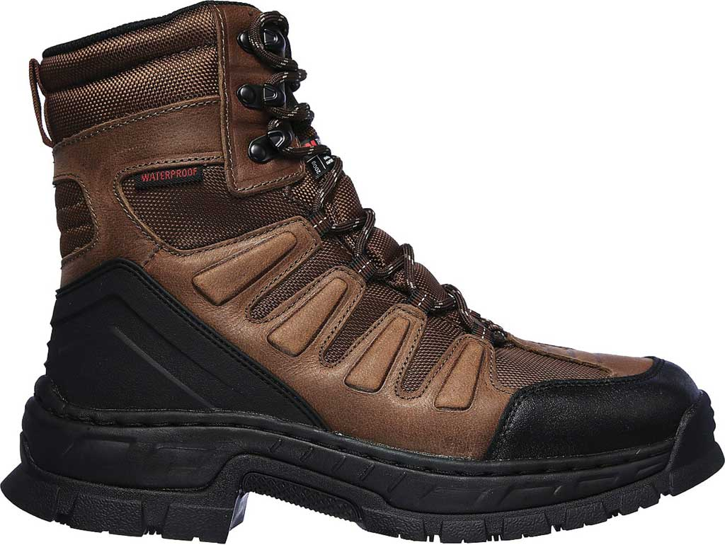 Men's Skechers Work Vinten Courtenay WP SR Boot, Brown, large, image 2