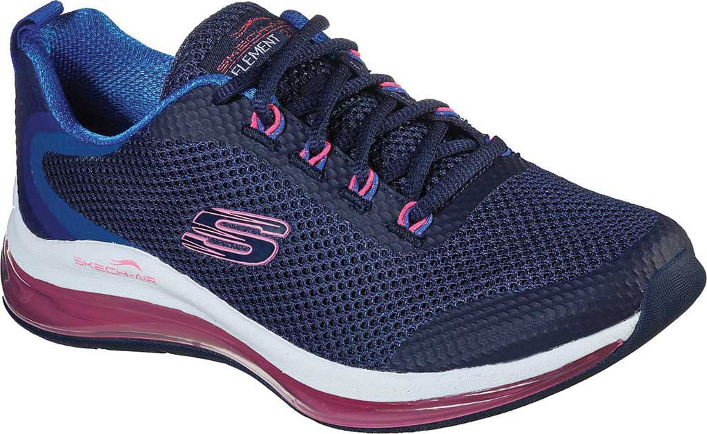 Women's Skechers Skech-Air Element 2.0 Sneaker, Navy/Hot Pink Mesh, large, image 1