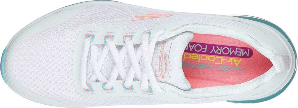 Women's Skechers Skech-Air Element 2.0 Sneaker, White/Blue/Pink, large, image 4