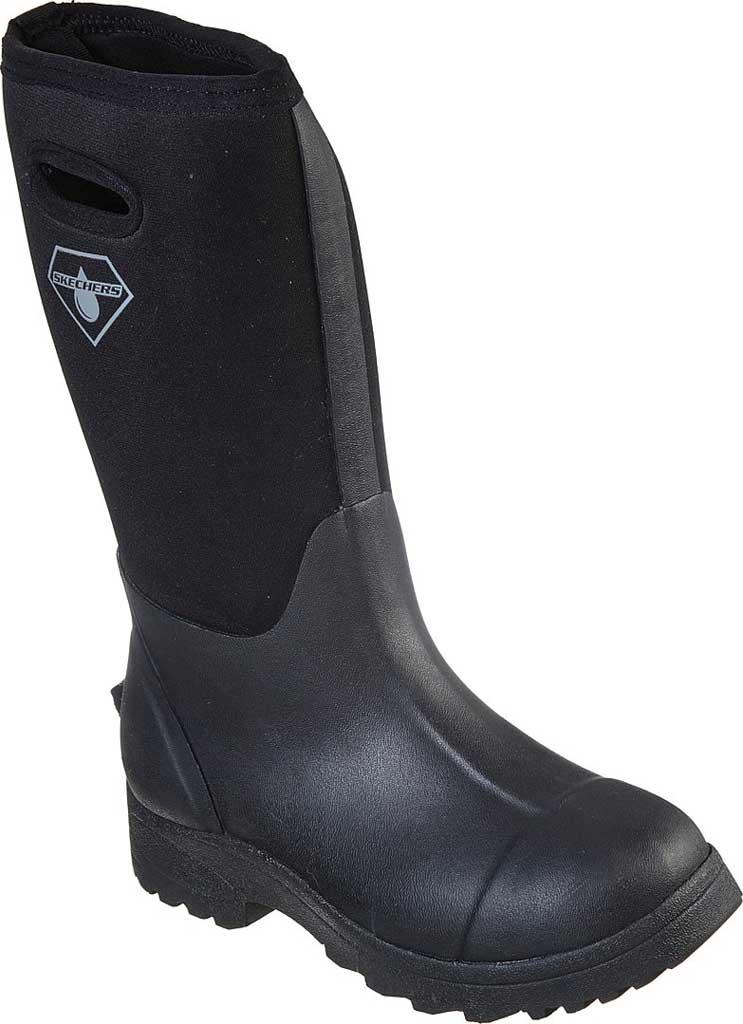 Women's Skechers Work Weirton Farous WP Boot, Black, large, image 1
