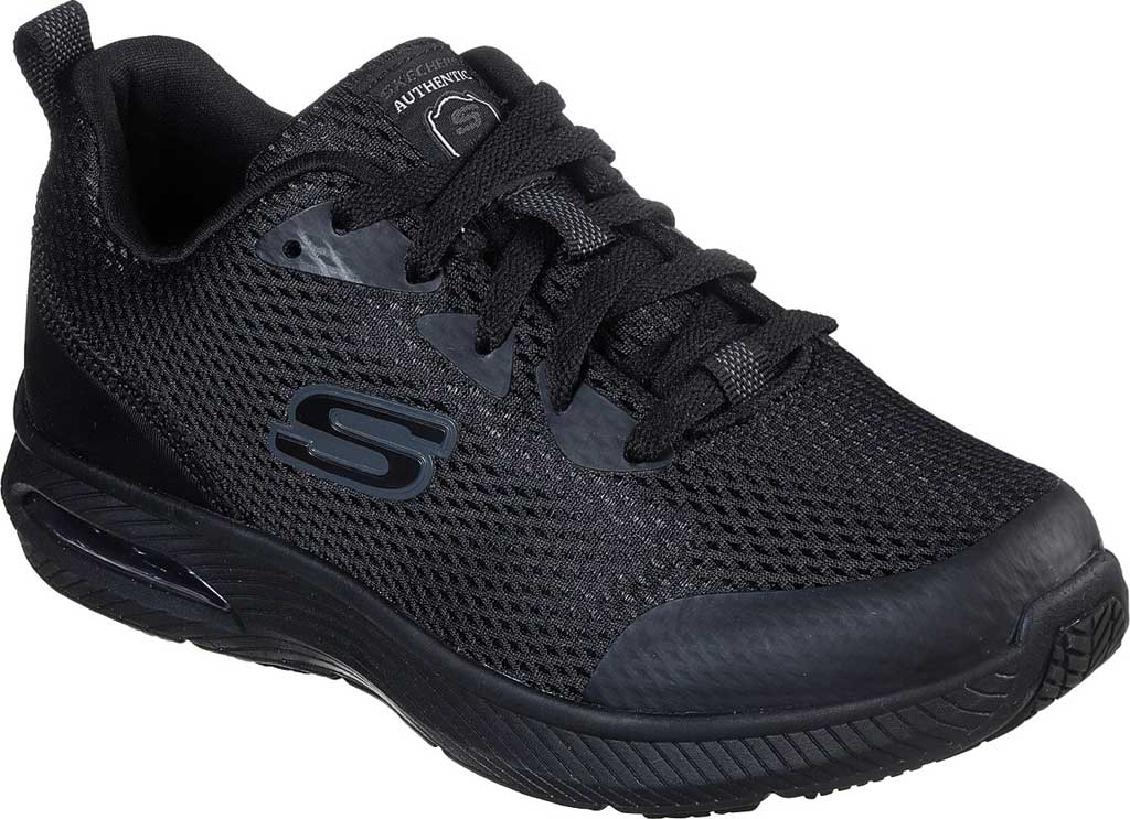 Women's Skechers Work Relaxed Fit Dyna-Air SR Sneaker, Black, large, image 1