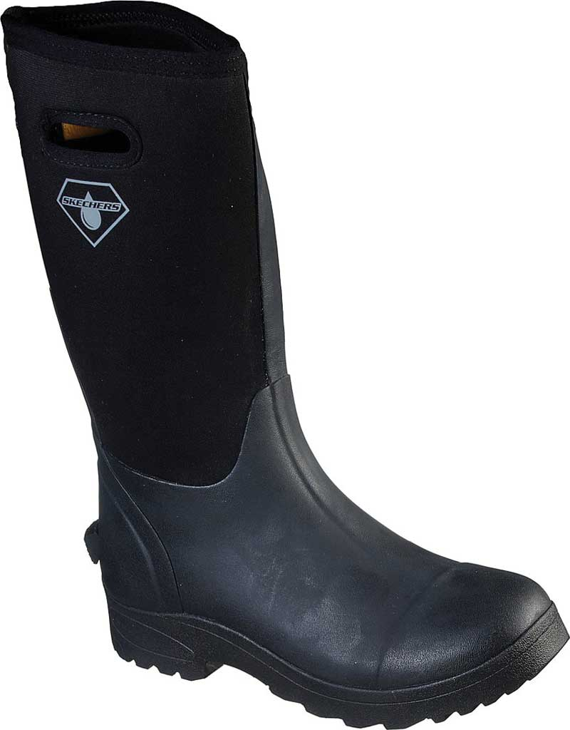 Men's Skechers Work Weirton WP Boot, Black, large, image 1