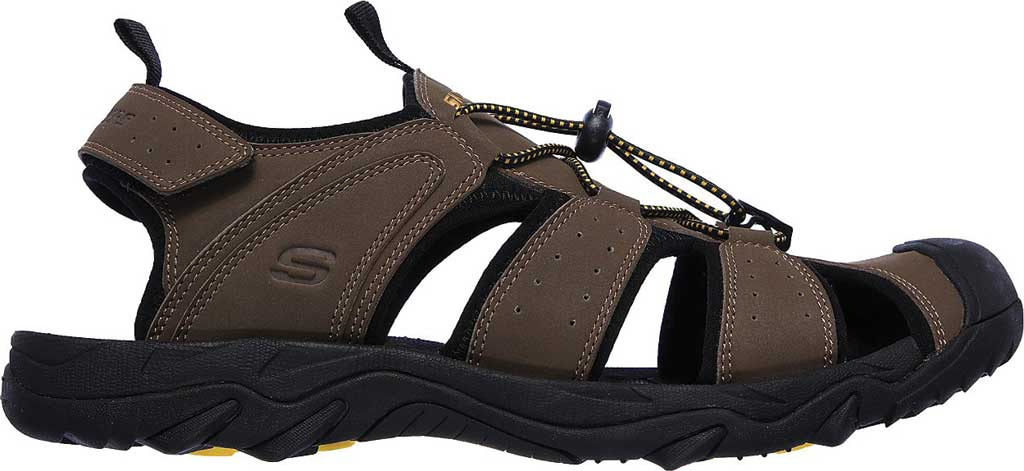 Men's Skechers Telmon Out River Hiking Sandal, Brown, large, image 2