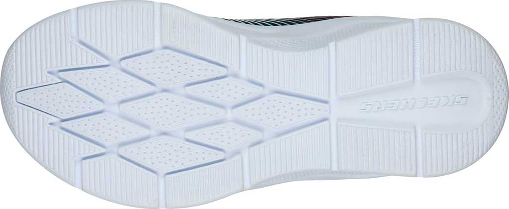 Girls' Skechers Microspec Sneaker, Black/Aqua, large, image 5
