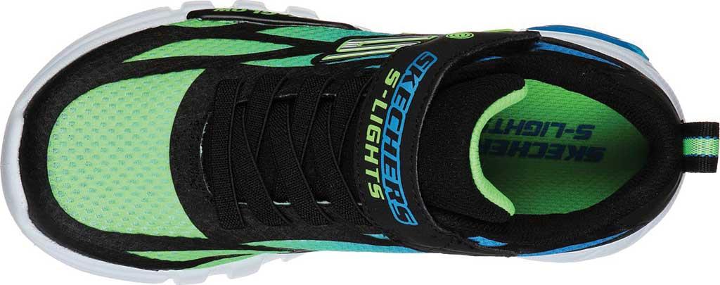 Boys' Skechers S Lights Flex-Glow Dezlo Sneaker, Black/Blue/Lime, large, image 4