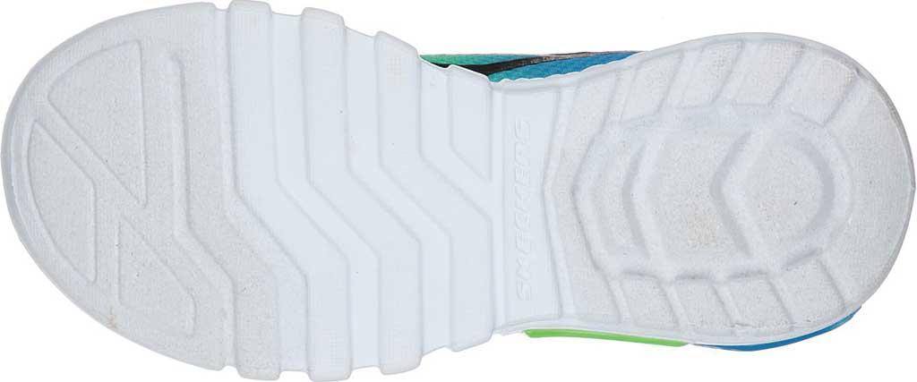 Boys' Skechers S Lights Flex-Glow Dezlo Sneaker, Black/Blue/Lime, large, image 5