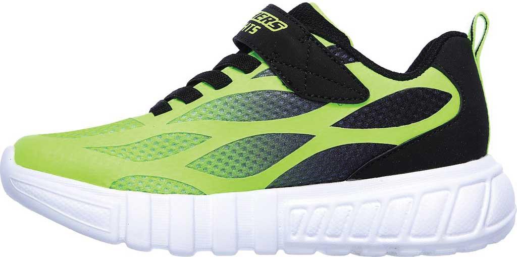 Boys' Skechers S Lights Flex-Glow Dezlo Sneaker, Lime/Black, large, image 3