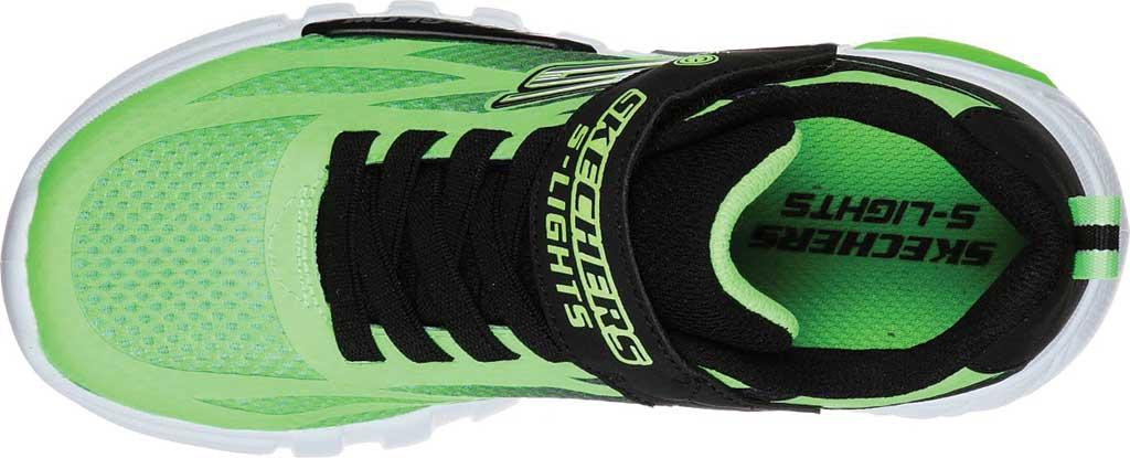Boys' Skechers S Lights Flex-Glow Dezlo Sneaker, Lime/Black, large, image 4